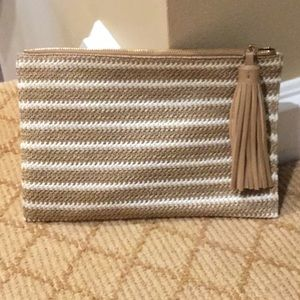 Woven clutch from Barney's NY